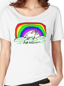 sketchy fat unicorn Women's Relaxed Fit T-Shirt