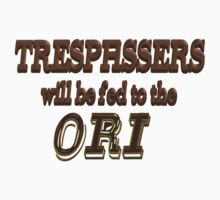 Trespassers Will Be Fed to the Ori Kids Tee