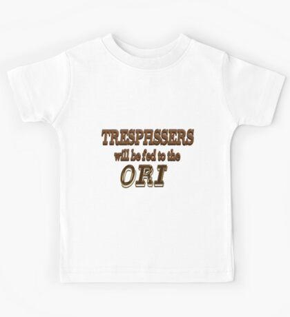 Trespassers Will Be Fed to the Ori Kids Tee