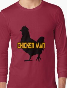 Chicken man geek funny nerd Long Sleeve T-Shirt