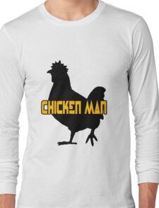 Chicken man geek funny nerd Long Sleeve T-Shirt