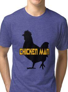 Chicken man geek funny nerd Tri-blend T-Shirt