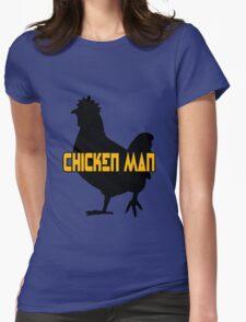 Chicken man geek funny nerd Womens Fitted T-Shirt
