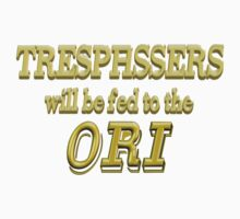 Trespassers Will Be Fed to the Ori - Dark Backgrounds Kids Tee