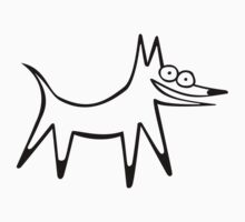 The space dog (outline black) Kids Clothes