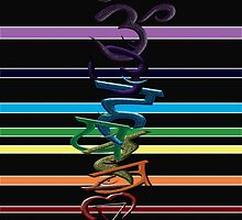CHAKRA RAINBOW GAY PRIDE by support-a-vet