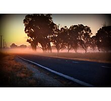 golden mile, murray valley hwy, rutherglen, vic Photographic Print