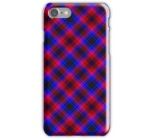 Traditional Red, Black and Blue Plaid iPhone Case/Skin
