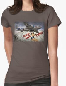 Take Off Time Womens Fitted T-Shirt