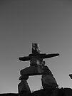 Standing tall Inukshuk by Brenden Bencharski