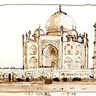Taj Mahal, from a bush card & print by LordOtter