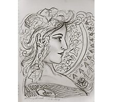 Woman Art Nouveau - Anthony Mitchell drawing  Photographic Print