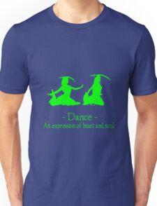 Green and black long sleeve belly dance bellydance geek funny nerd Unisex T-Shirt