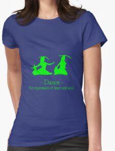 Green and black long sleeve belly dance bellydance geek funny nerd Womens Fitted T-Shirt