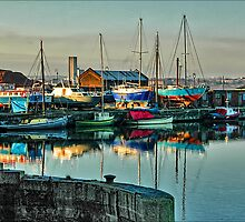 Early morning boatyard by Tarrby