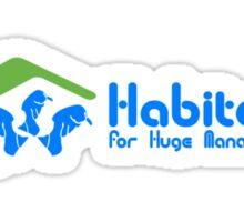 Habitat for huge manatees geek funny nerd Sticker