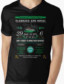 Cthulhu Tee - Innsmouth Clambake and Social Mens V-Neck T-Shirt