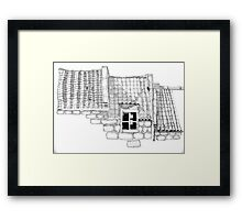 Roof Tops, Staithes Framed Print