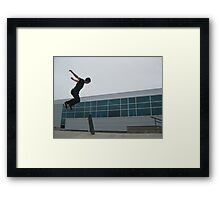 Superman skater Framed Print