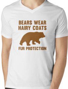 Fur Protection Mens V-Neck T-Shirt
