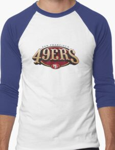 San Francisco 49ers logo 3 Men's Baseball ¾ T-Shirt