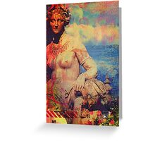 Lady with Jug Greeting Card
