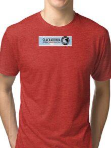 Slackadonia: The Workers' Agrarian Social Utopia Tri-blend T-Shirt