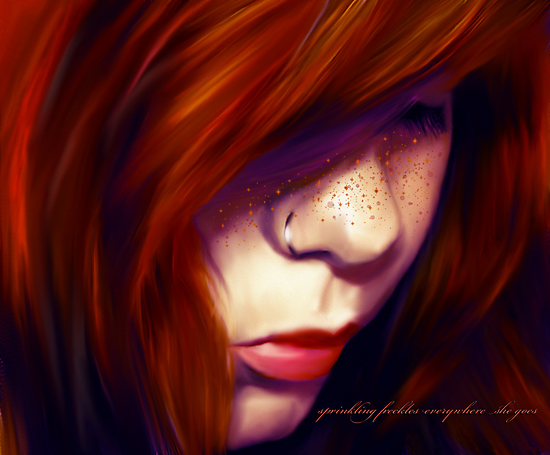 sprinkling freckles everywhere she goes by ab-type