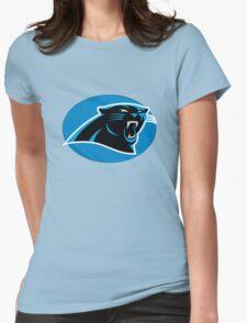 Carolina Panthers logo 5 Womens Fitted T-Shirt