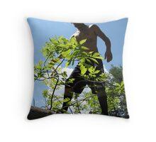 big tree bigger man Throw Pillow