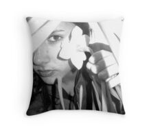 in the shadow of a flower Throw Pillow