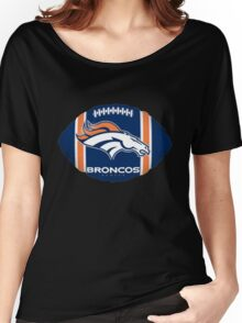 Denver Broncos logo 6 Women's Relaxed Fit T-Shirt