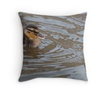My Brother and Me: Mallard Ducklings Throw Pillow