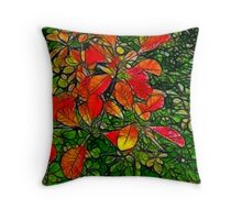 Autumn - Red Leaves Throw Pillow