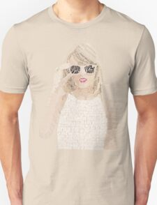 Red Taylor Swift Typography T-Shirt