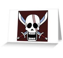one piee red hair shanks jolly roger anime manga shirt Greeting Card