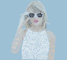 Blue Taylor Swift Typography T-Shirt
