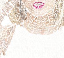 Blue Taylor Swift Typography Sticker