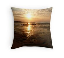 Middle Lagoon Sunset between Cape Leveque and Broome WA. Throw Pillow
