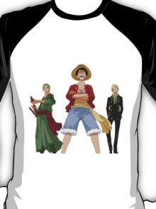 one piece straw hats luffy zoro sanji anime manga shirt T-Shirt