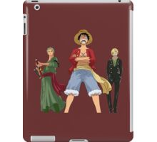 one piece straw hats luffy zoro sanji anime manga shirt iPad Case/Skin