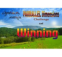 PARRALLEL Dimensions Challenge Winner Banner Photographic Print