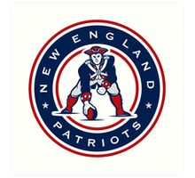 New England Patriots logo 4 Art Print