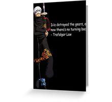 one piece trafalgar law luffy anime manga shirt Greeting Card