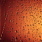 Rain drops  (abstract) by Karen  Betts