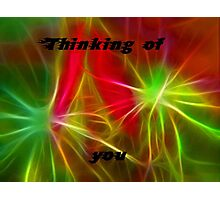 Neon Rainbow Thinking of You,Card Photographic Print