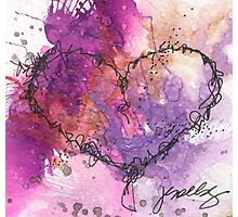 Deep purple heart Photographic Print