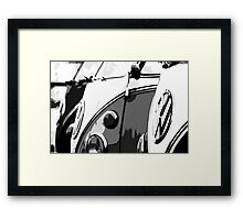 Splits in grey Framed Print