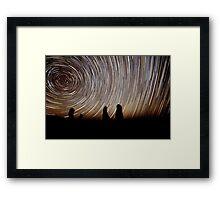 Pinnacles Star Trails Framed Print