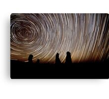 Pinnacles Star Trails Canvas Print